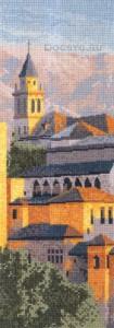 схема вышивки замок в горах испании