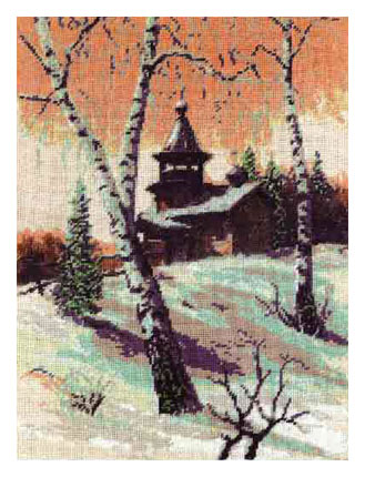 схема вышивки зимнее утро
