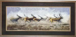 схема вышивки золотые антилопы