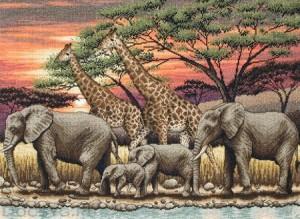 схема вышивки африканский закат