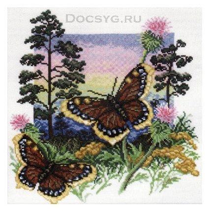 схема вышивки бабочка шоколадница