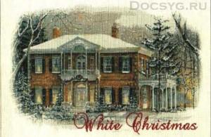 схема вышивки белое рождество