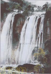 схема вышивки большой водопад