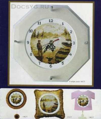 схема вышивки часы