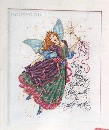 схема вышивки фея-крестная