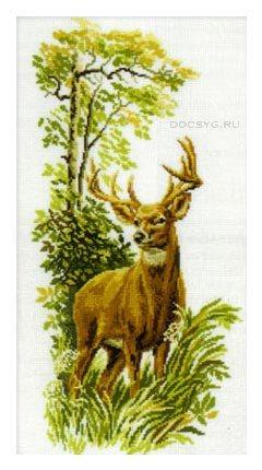 схема вышивки лесной олень