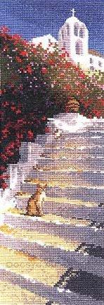 схема вышивки лестница к храму