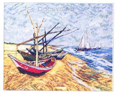 схема вышивки лодки с сен мари