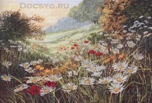 схема вышивки луговые цветы