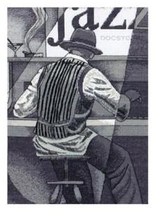 схема вышивки музыка в стиле джаз