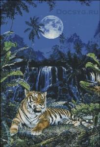 схема вышивки ночной тигр