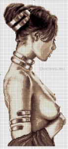 схема вышивки обнаженная девушка