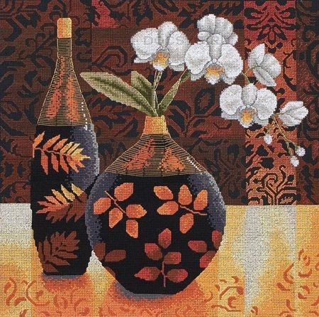 схема вышивки орхидея линда