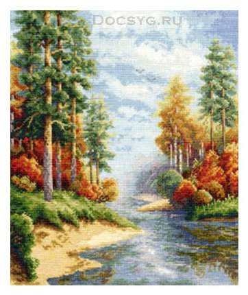 схема вышивки осенний лес