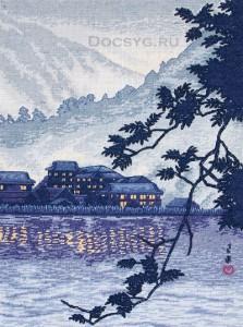 схема вышивки озеро в никко