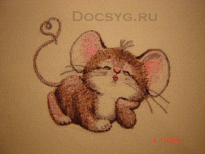 схема вышивки влюбленная мышка