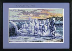 схема вышивки волна