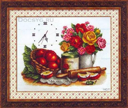 Схема вышивки Яблочный