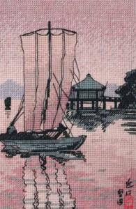 схема вышивки японская гравюра
