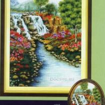 схема вышивки яркий пейзаж