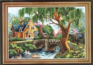схема вышивки загородный дом