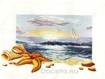 схема вышивки дары моря