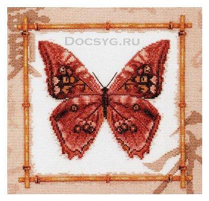 схема вышивки древняя бабочка