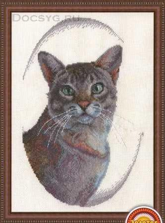 схема вышивки кот мурзик