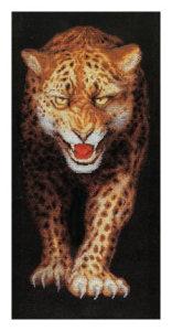 схема вышивки леопард