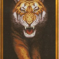 схема вышивки оскал тигра
