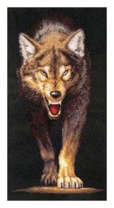 схема вышивки волчица