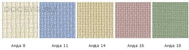 Размер вышивки из крестиков в см