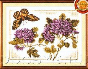 схема вышивки бабочка кардинал