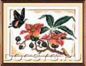 схема вышивки бабочка парусник