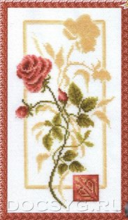 схема вышивки Отражение розы