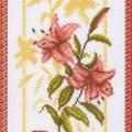 схема вышивки Отражение лилии
