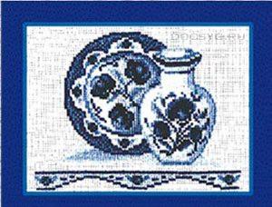 схема вышивки Ваза с блюдом