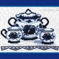 схема вышивки Чайный сервиз