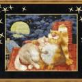схема вышивки Мартовская песня