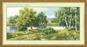 схема вышивки У реки