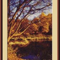 схема вышивки Осенний пруд