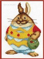 схема вышивки Пасхальный кролик