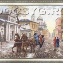 схема вышиви Московская улочка
