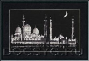схема вышивки Мечеть шейха Заида