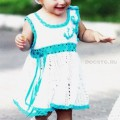 платье для девочки вязанное крючком
