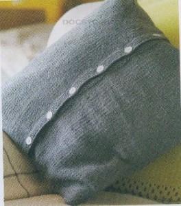 подушки вязаные спицами 2