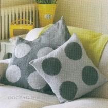 подушки вязаные спицами