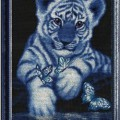 схема вышивки Белый тигренок