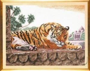 схема вышивки Бенгальский тигр
