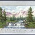 схема вышивки Горный пейзаж